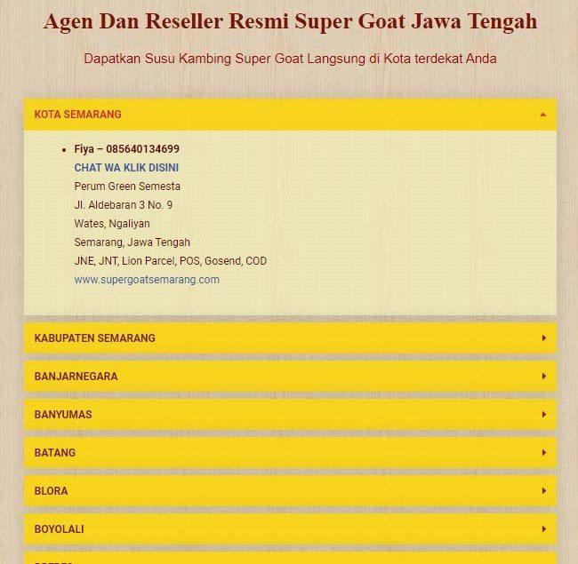 daftar agen dan reseller susu super goat